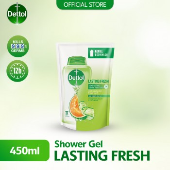 Dettol Body Wash Lasting Fresh Pouch 450ml