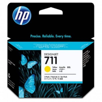 HP 711 3-pack 29-ml Yellow Ink Cartridges (CZ136A)