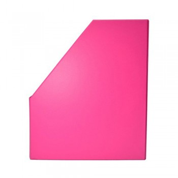 """5"""" PVC Magazine Box File - Fancy Pink"""