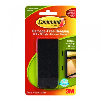 3M 17206/B Command Large Picture Hanging Strip - Black