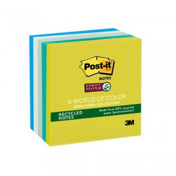 "3M 654-5SS Post-It MK 3"" x 3"" Super Sticky - Bora-Bora"