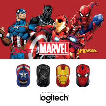 (AONE) LOGITECH M238 WIRELESS MOUSE - MARVEL COLLECTION BLACK PANTHER (910-005564)