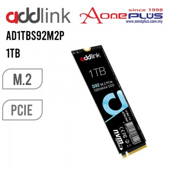 (AONE PLUS SS2) ADDLINK 1TB S92 GEN4X4 M.2 NVME SOLID STATE DRIVE ( ad1TBS92M2P )