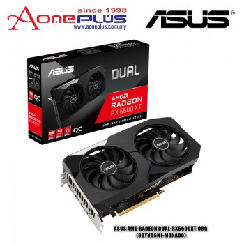 ASUS AMD RADEON DUAL-RX6600XT-O8G 8GB GDDR6 128-BIT PCI-E 4.0 GRAPHIC CARD (90YV0GN1-M0NA00)