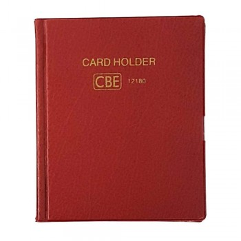 CBE 12180 PVC Name Card Holder - Red