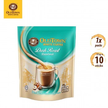 OLDTOWN White Coffee Dark Roast 3-in-1 Hazelnut Instant Premix (10s x 1 Pack)