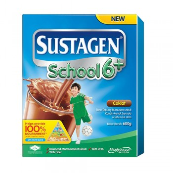 Sustagen School 6 Plus Chocolate Milk Powder 600g