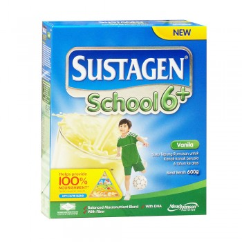 Sustagen School 6 Plus Vanilla Milk Powder 600g