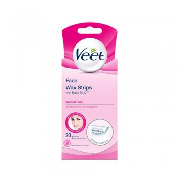 Veet Wax Strip Normal Skin (Facial) 20's