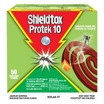 Shieldtox 10 hours Protek Mosquito Coil 50 pieces