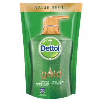 Dettol Gold Shower Gel Daily Clean Gel Refill Pouch 900ml