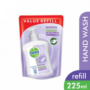 Dettol Hand Wash Sensitive Refill Pouch 225ml