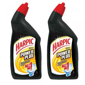 Harpic Powerplus All-in-one Citrus Cleaning Gel 450ml x2 (Value Pack)