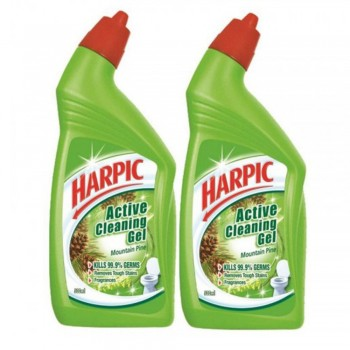 Harpic Mountain Pine Toilet Cleaning Gel 500ml x2 (Value Pack)