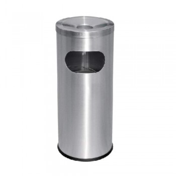 Stainless Steel Litter Bin - C/W Ashtray Top RAB-001/A