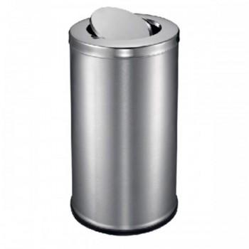 Stainless Steel Round Waste Bin - C/W Flip Top RFT-086/SS