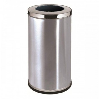 Stainless Steel Round Waste Bin - C/W Open Top RAB-013/SS