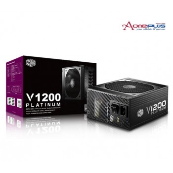 (AONE) COOLER MASTER V1200 PLATINUM 80 PLUS PLATINUM 1200W POWER SUPPLY (RS-C00-AFBA-G1)