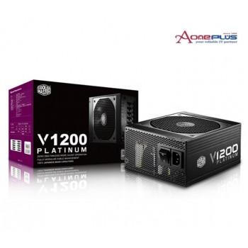(AONE) COOLER MASTER V1200 PLATINUM 80 PLUS PLATINUM 1200W POWER SUPPLY (RS-C00-AFBA-G1)