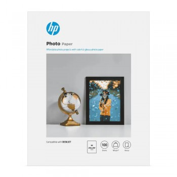 HP Glossy Photo Paper-100 sht/A4/210 x 297 mm