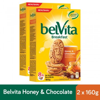Belvita Breakfast Honey & Chocolate Biscuits (160g x 2)