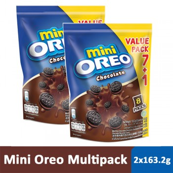 Mini Oreo Chocolate Multipack (163.2g x 2)