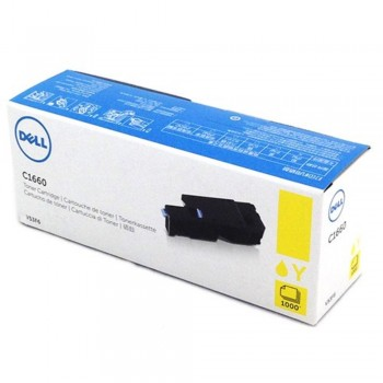 Dell C1660 Yellow Toner Cartridge V53F6 (Item no: DELL C1660W YL)