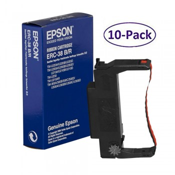 Epson ERC 38 Black/Red Ribbon (10 in 1)