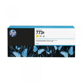 HP 773B 775ml Yellow DesignJet Ink Cartridge (HP C1Q32A)