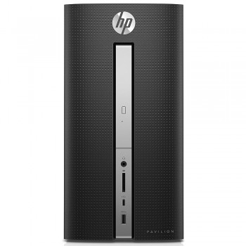 HP Pavilion 570-P023D Desktop PC - i3-7100, 4gb ram, 1tb hdd, Intel, W10, Black