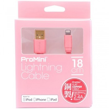 Magic Pro - ProMini Lightning Cable 18cm - Rose Pink