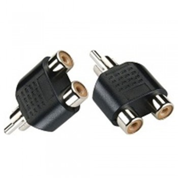 3.5mm Audio (M) To 2 X RCA Adaptor