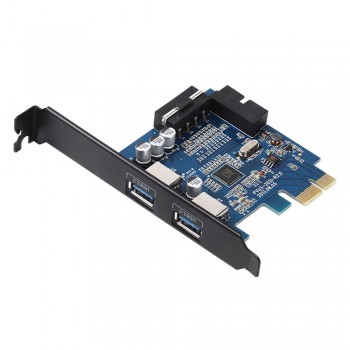 Orico PVU3-202I PCI-E Express Card to 2 USB3.0 External port & 2 ports 20 pin USB3.0 output port with Half-height Baffle