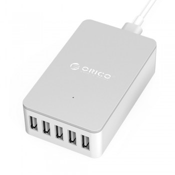 Orico CSE-5U 5 Port Smart Desktop Charger, Total 8A - White