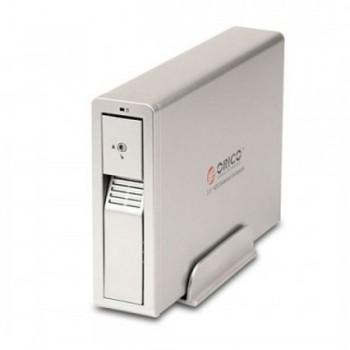 """Orico 7618UI3 3.5"""" SATA HDD Enclosure, USB 3.0+eSATA+1394a+1394b Interface - Silver"""