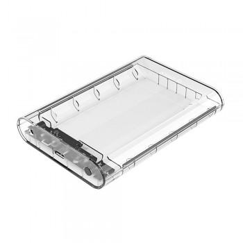 "Orico 3139U3 USB 3.0 3.5"" SATA III 6Gbps HDD External Enclosure - Transparent"
