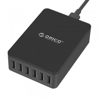Orico DHE-6U 6 Port USB Charger total Output 10A - Black