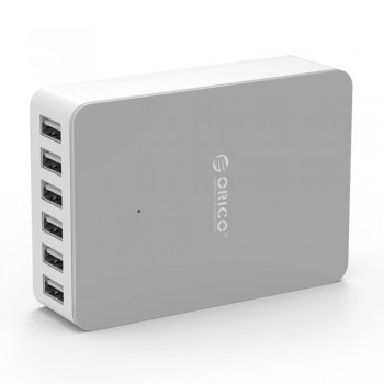 Orico DHE-6U 6 Port USB Charger total Output 10A - White