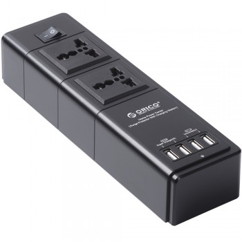 Orico HPC-2A4U Power Center - Surge Protector with USB Super Charger
