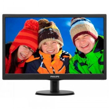 "Philips 18.5"" Monitor (193V5LSB) - LCD Monitor with LED Backlight, V-line, 18.5"" / 47cm (Item No: PHILIP193V5LSB2)"