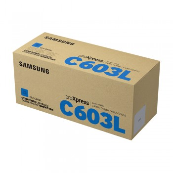 Samsung CLT-C603L High Yield Cyan Toner Cartridge - 10k