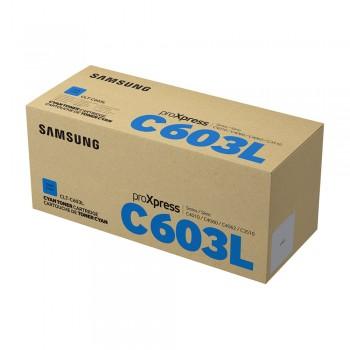 Samsung CLT-C603L High Yield Cyan Toner Cartridge - 10k