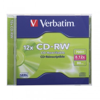 Verbatim CD-RW 700mb 80min with Casing
