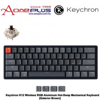 Keychron K12 Wireless RGB Aluminum Hot-Swap Mechanical Keyboard - Gateron Brown
