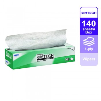Kimtech Science™ Wipers 34256 - White, 1 ply, 1 box x 140 sheets (140 sheets)