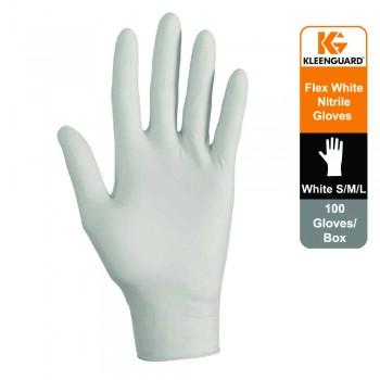 KleenGuard™ G10 Flex Nitrile Ambidextrous Gloves- white, 1x100 (100 gloves) - S size