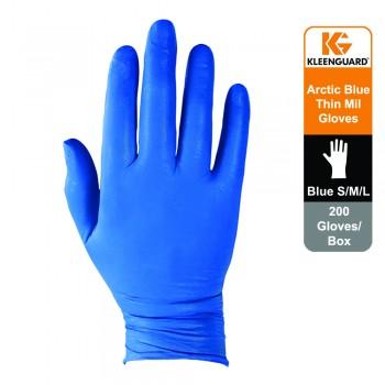 KleenGuard™ G10 Nitrile Ambidextrous Gloves - Arctic Blue,1x200 (200 gloves) - M Size