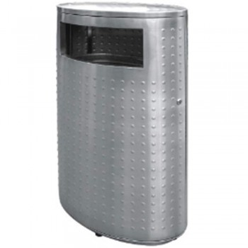 Stainless Steel Oval Waste Bin c/w Flat Top-RAB-143/F (Item No.G01-269)