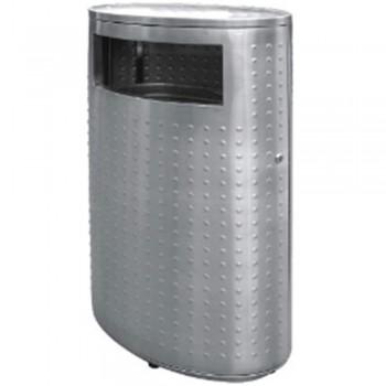 Stainless Steel Oval Waste Bin c/w Flat Top-RAB-143/F (Item No.G01-269)