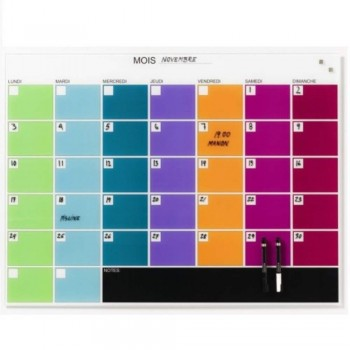 NAGA Magnetic Glass Month Planner (Item No: G14-04)